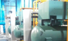 Installed power and controls to new ammonia compressors for improved efficiency in energy center
